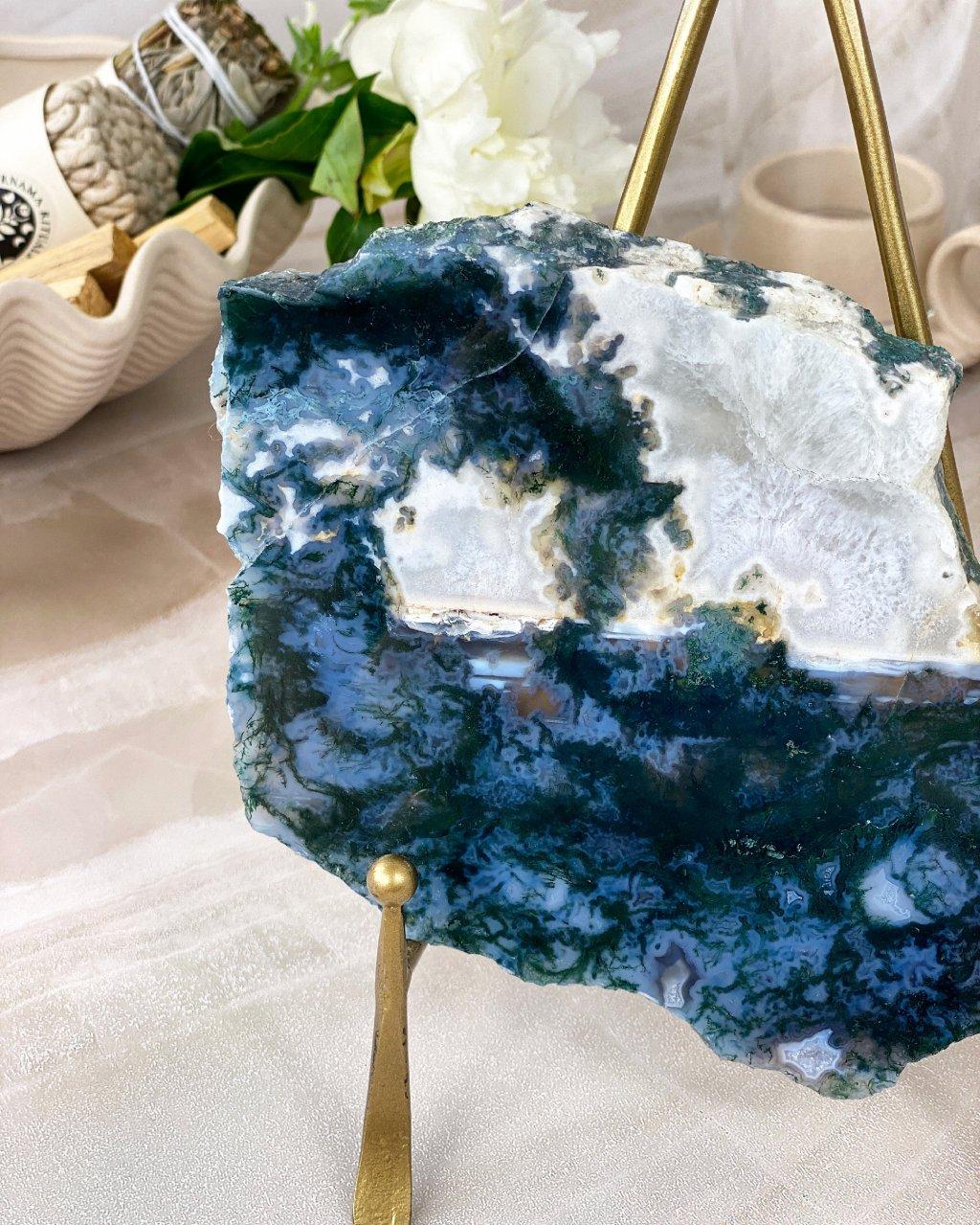 Luxusní chátový podtácek s krystaly Brazílie
