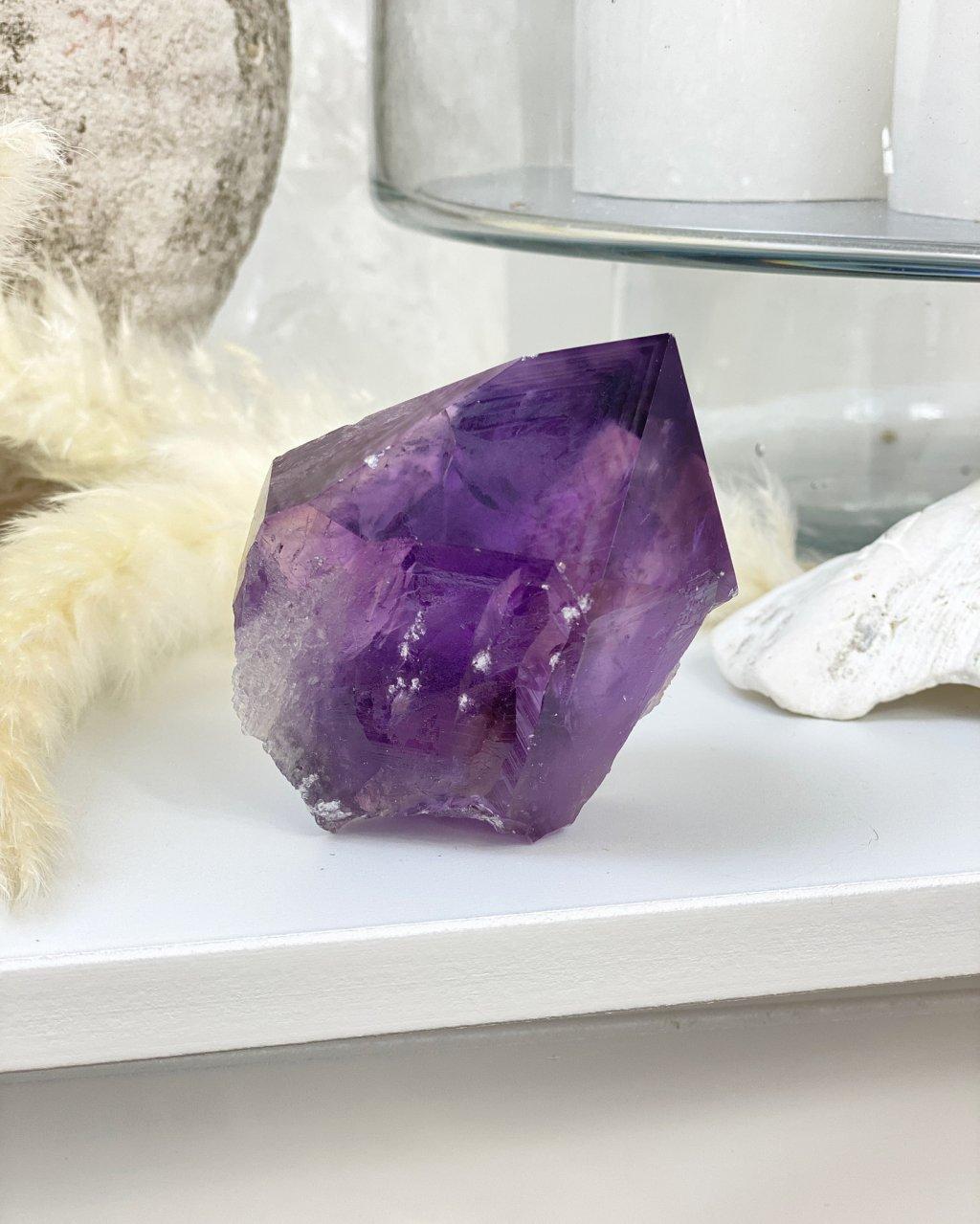 Ametyst krystal velký broušený Bolívie 211g