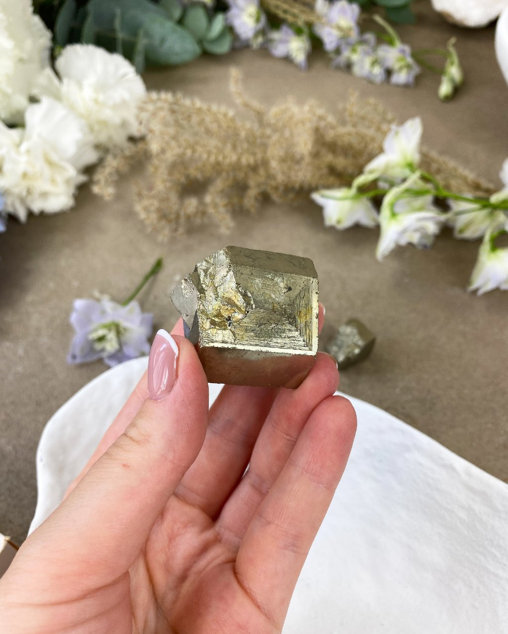 Drahé kameny pyrit kostka Peru