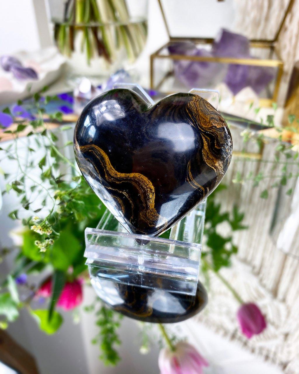 Broušené srdce stromatolit Peru
