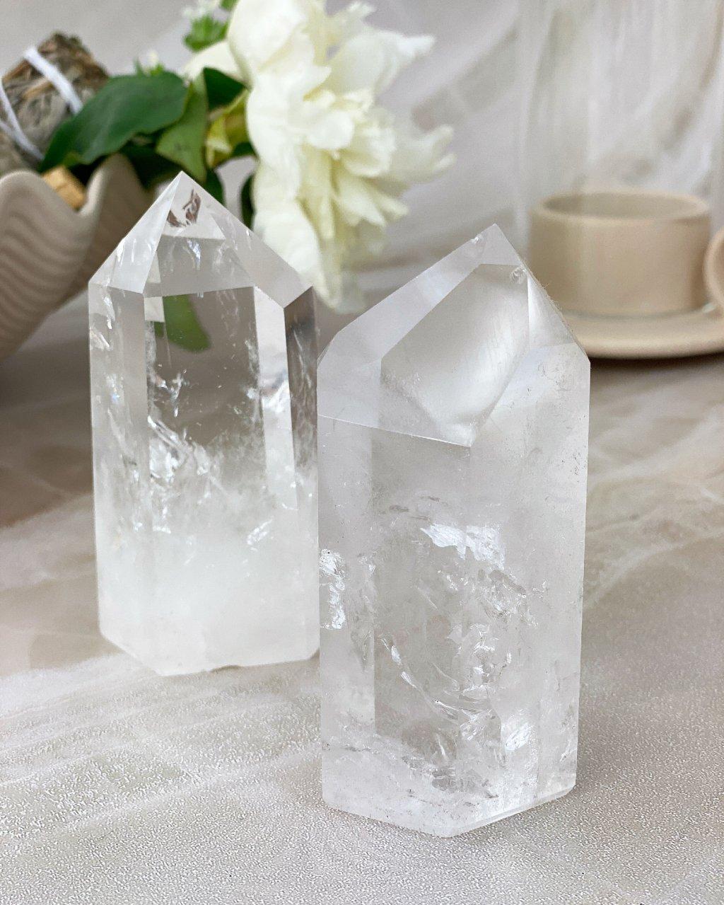 Křišťálová špice krystal broušený 113g Brazílie