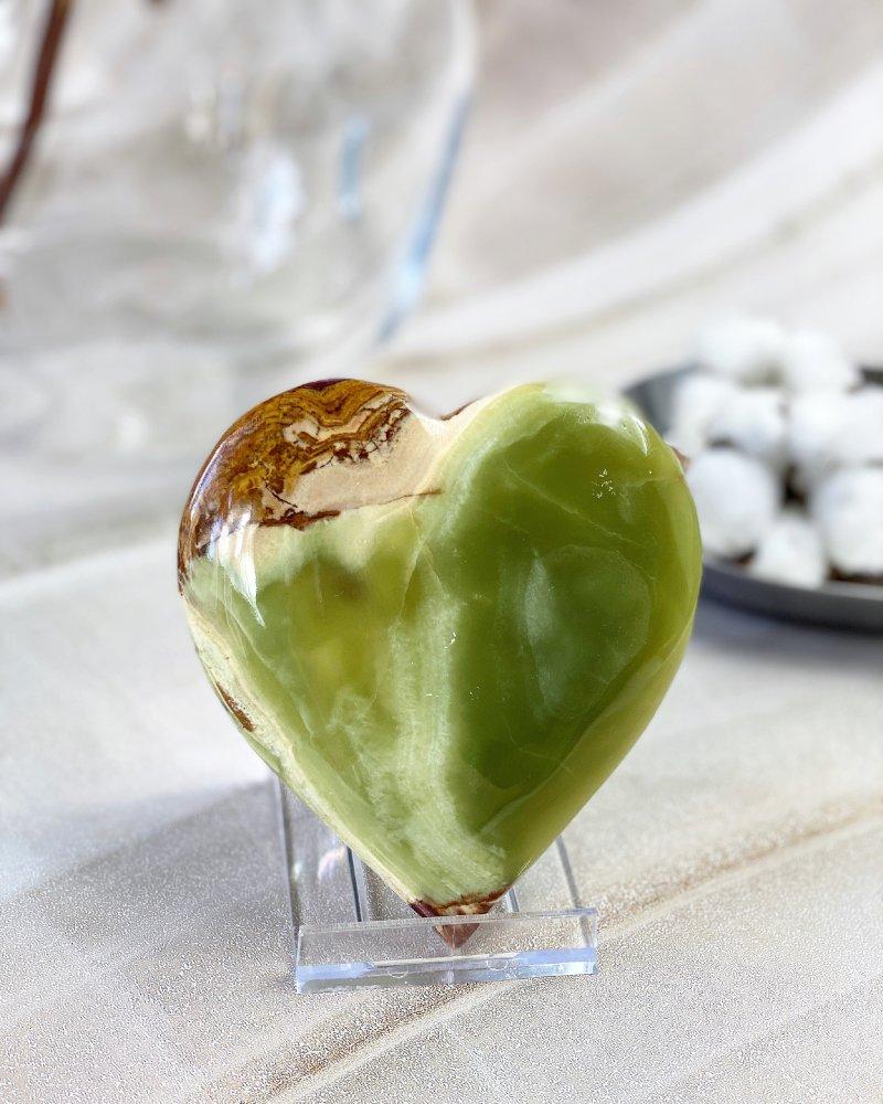 Broušené kamenné srdce onyx velké Pákistán