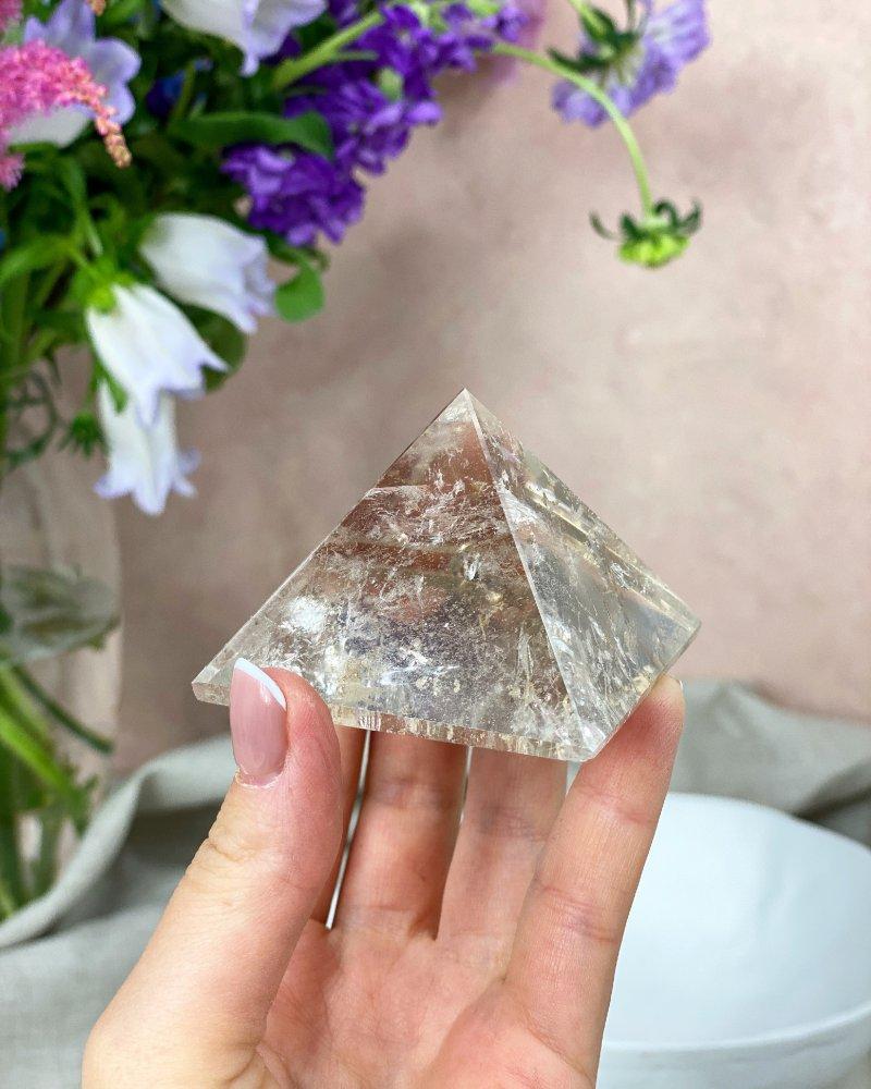 Křišťál pyramida broušená 5 cm Brazílie