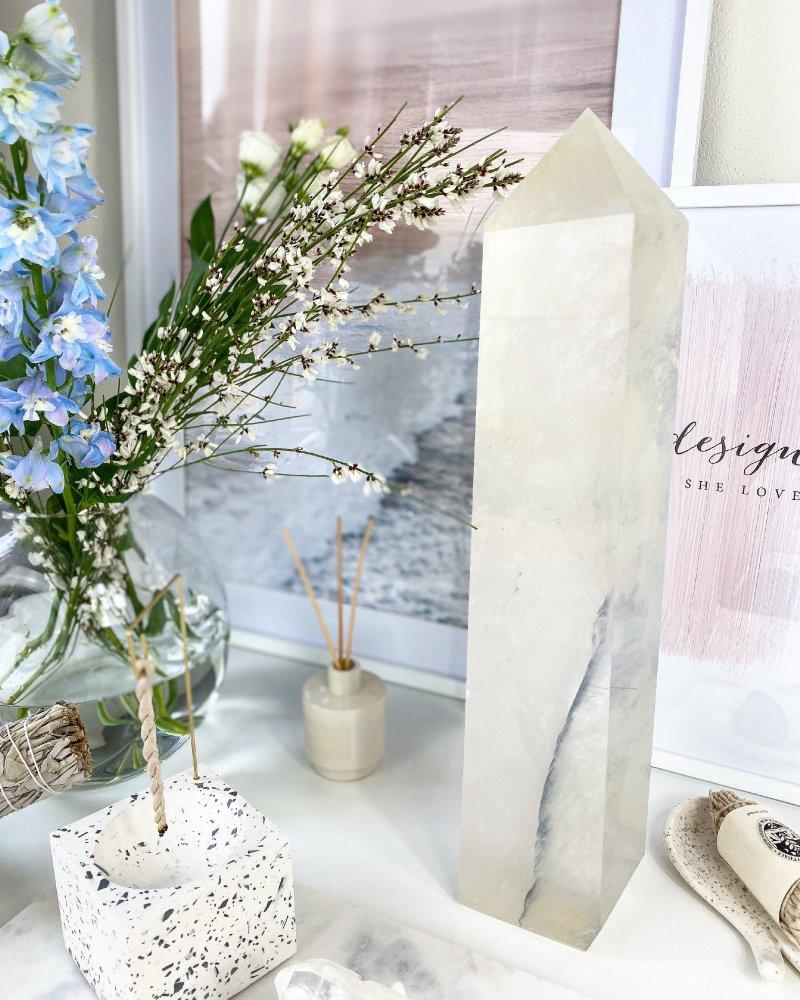 Luxusní krystal broušená špice 45cm Madagaskar TOP!