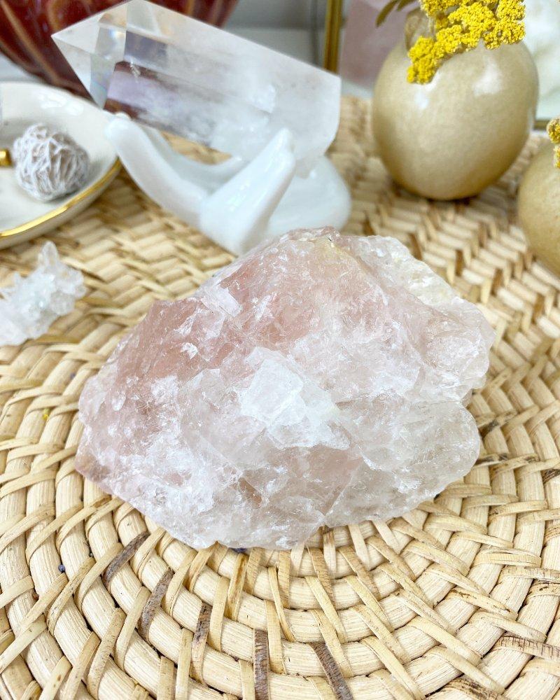 Růžový fluorit surový Peru