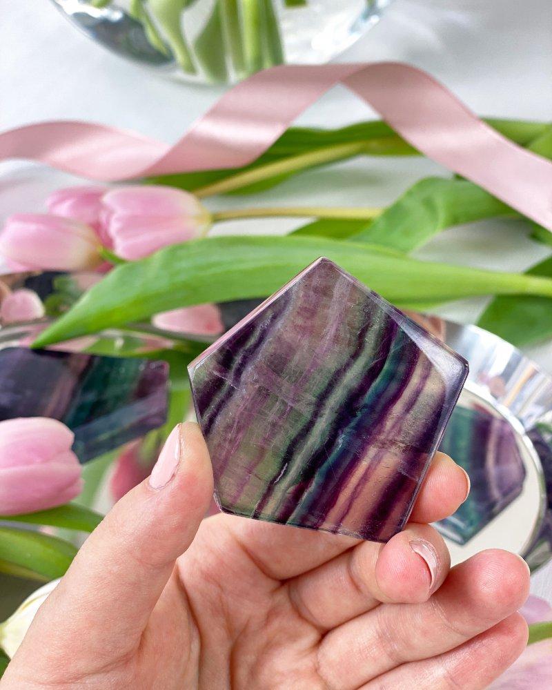 Fluorit destička leštěná 5-6cm