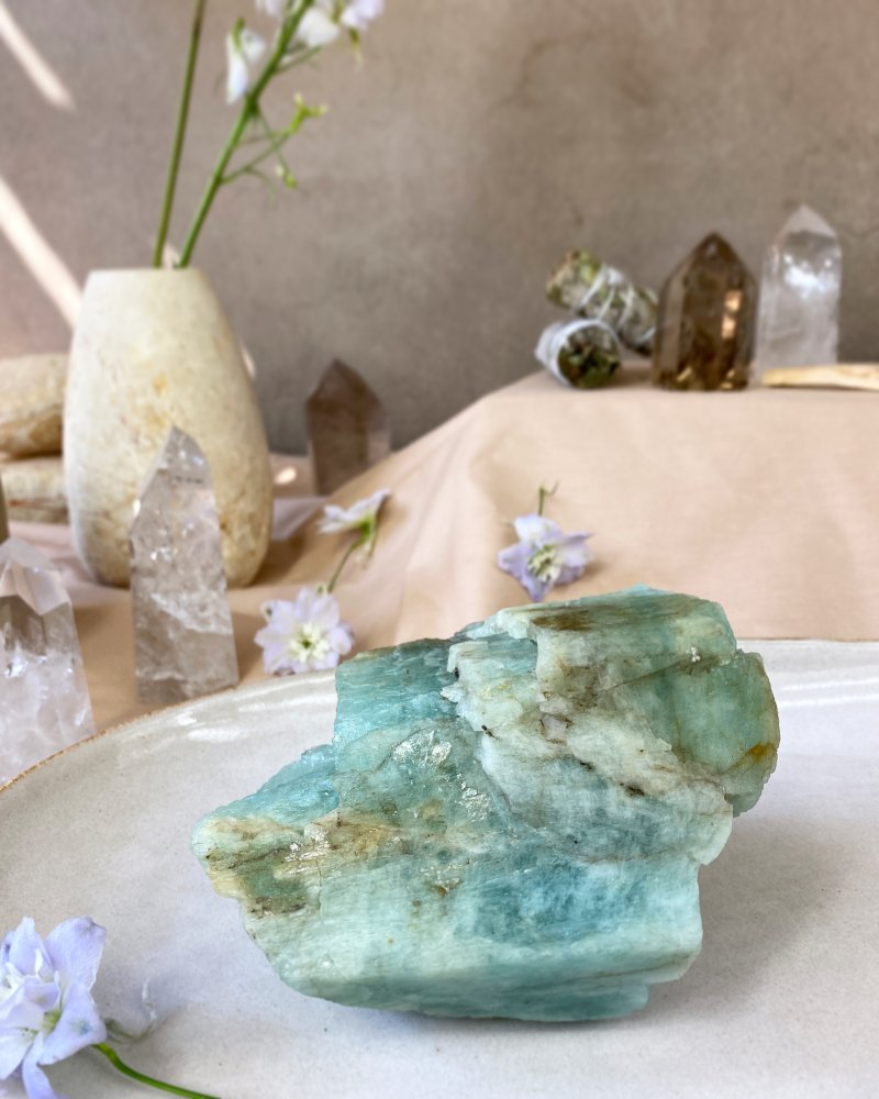 Akvamarín surový 200g A kvalita Brazílie