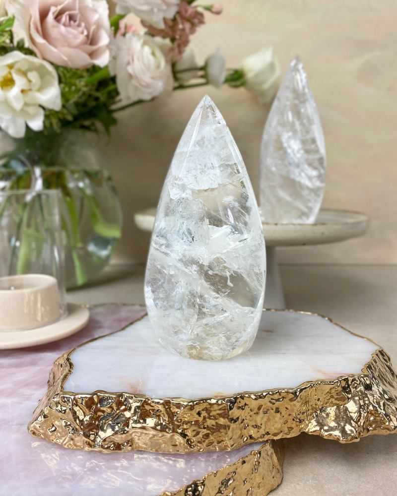 Křišťálový krystal broušená špice Madagaskar 12cm 302g