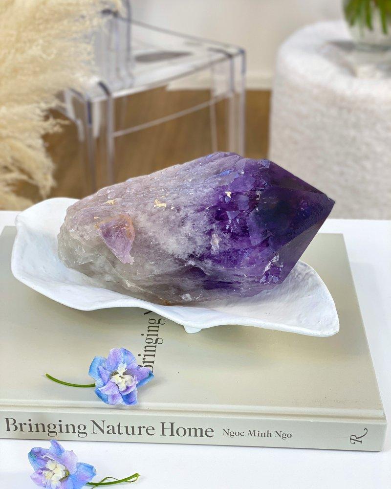 Ametystový surový kámen Bolívie 422g TOP