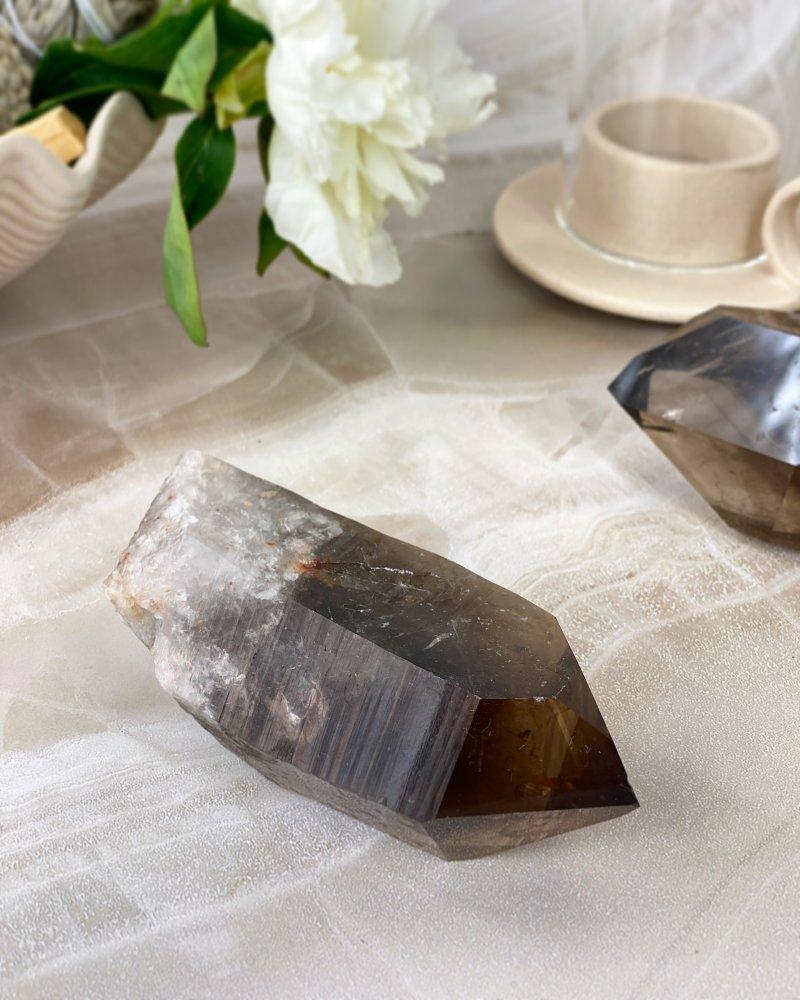 Polodrahokam záhněda krystal velký Brazílie AAA
