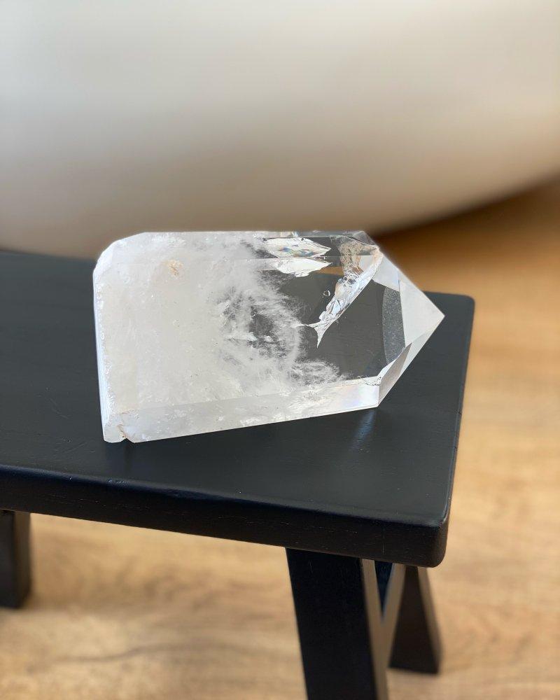 Luxusní křišťálová špice krystal broušený Brazílie 14cm