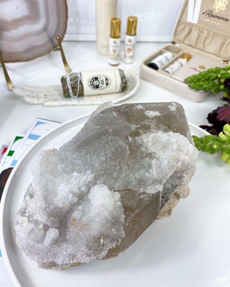 Drúza křišťál čistě bílá AAA kvalita Tibet
