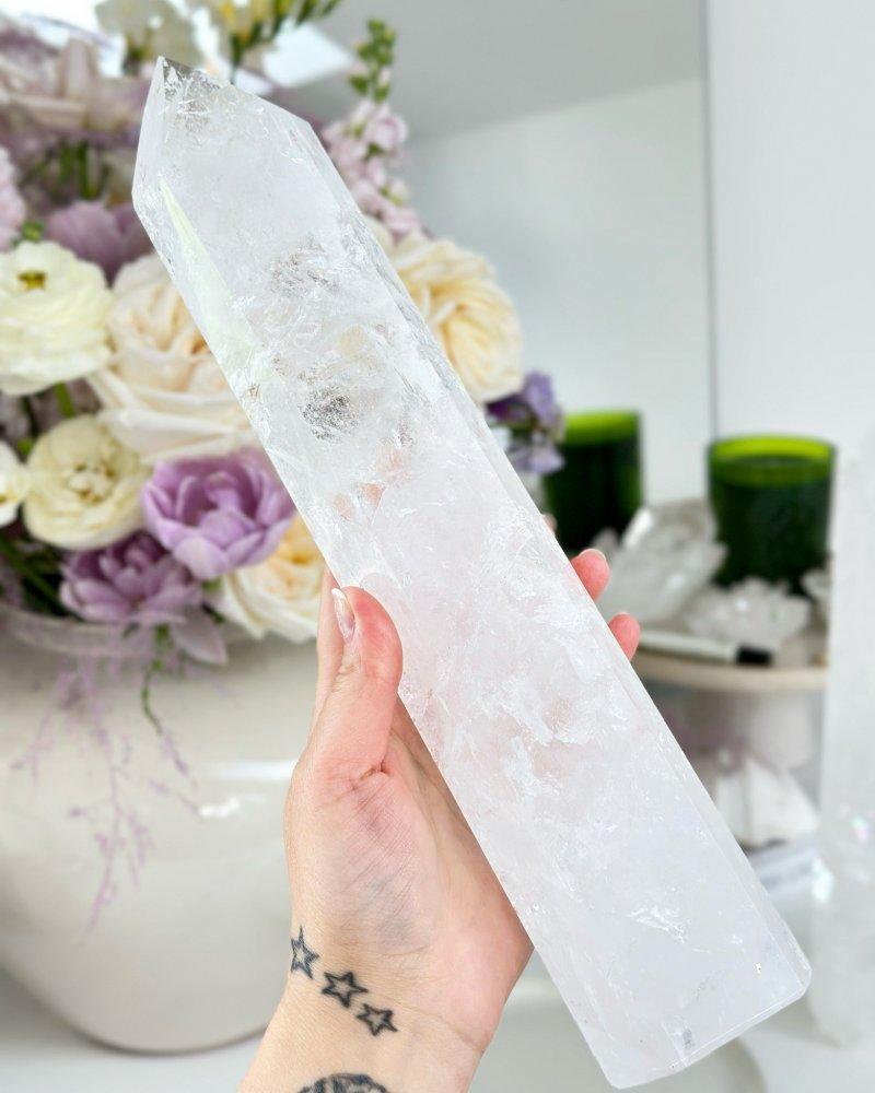 Luxusní křišťál krystal špice 27cm Brazílie AAA