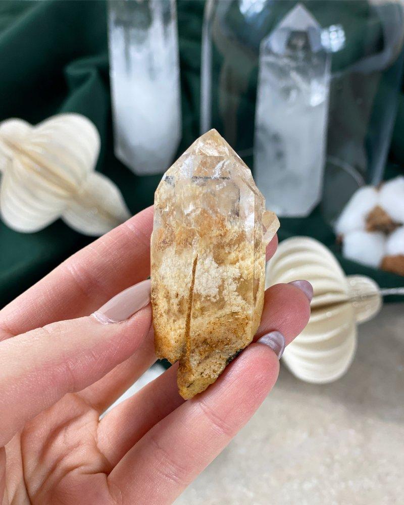 Surový křišťálový krystal s horninou Brazílie AAA 78g