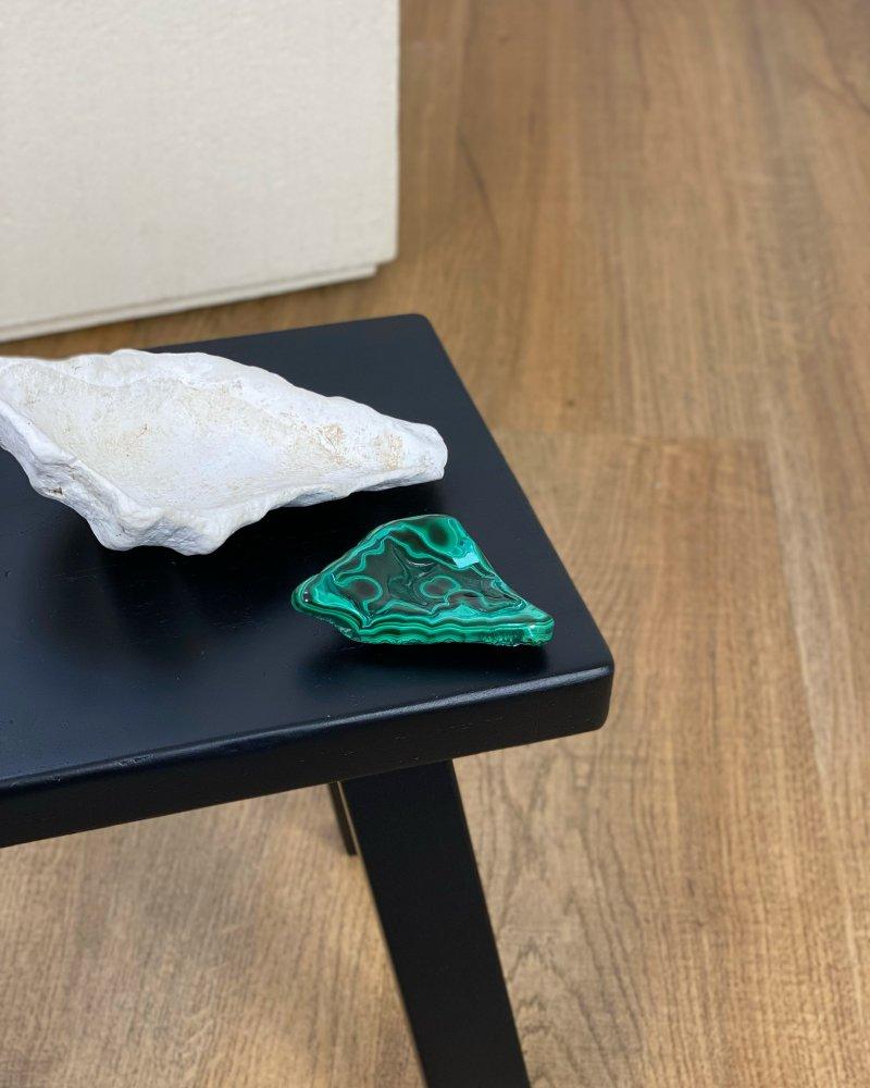 Malachit tromlovaný kámen leštěný Kongo