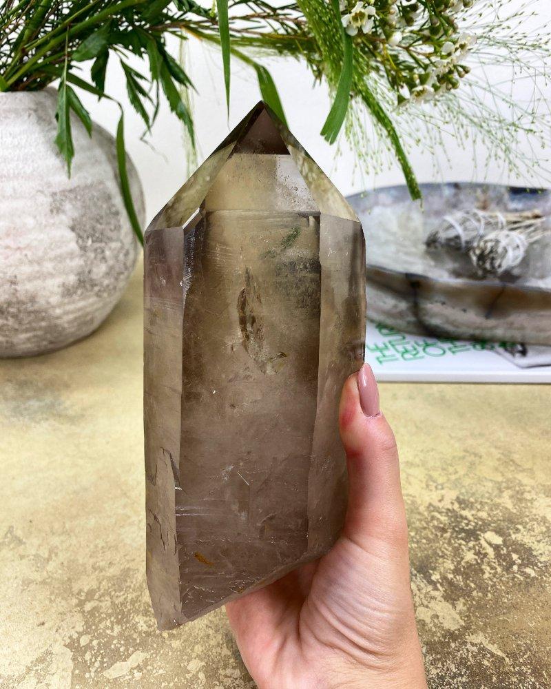 Luxusní krystal záhnědy 19cm Brazílie 1,6kg AAA