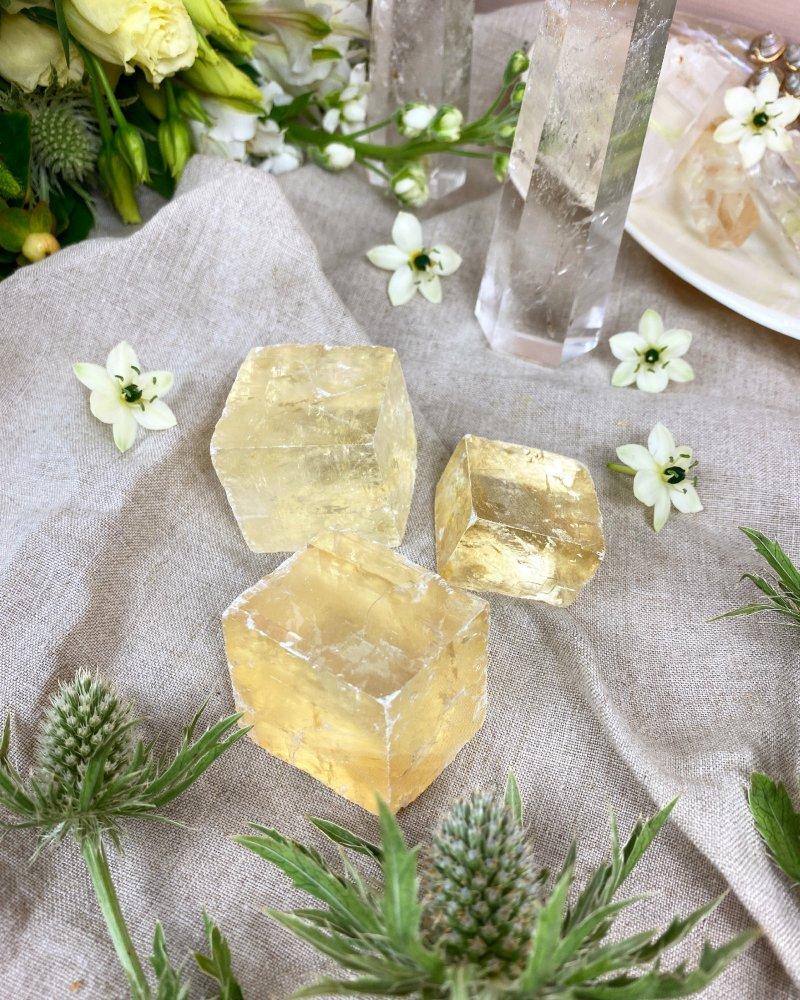 Islandský kalcit kostky čiré 70g AAA