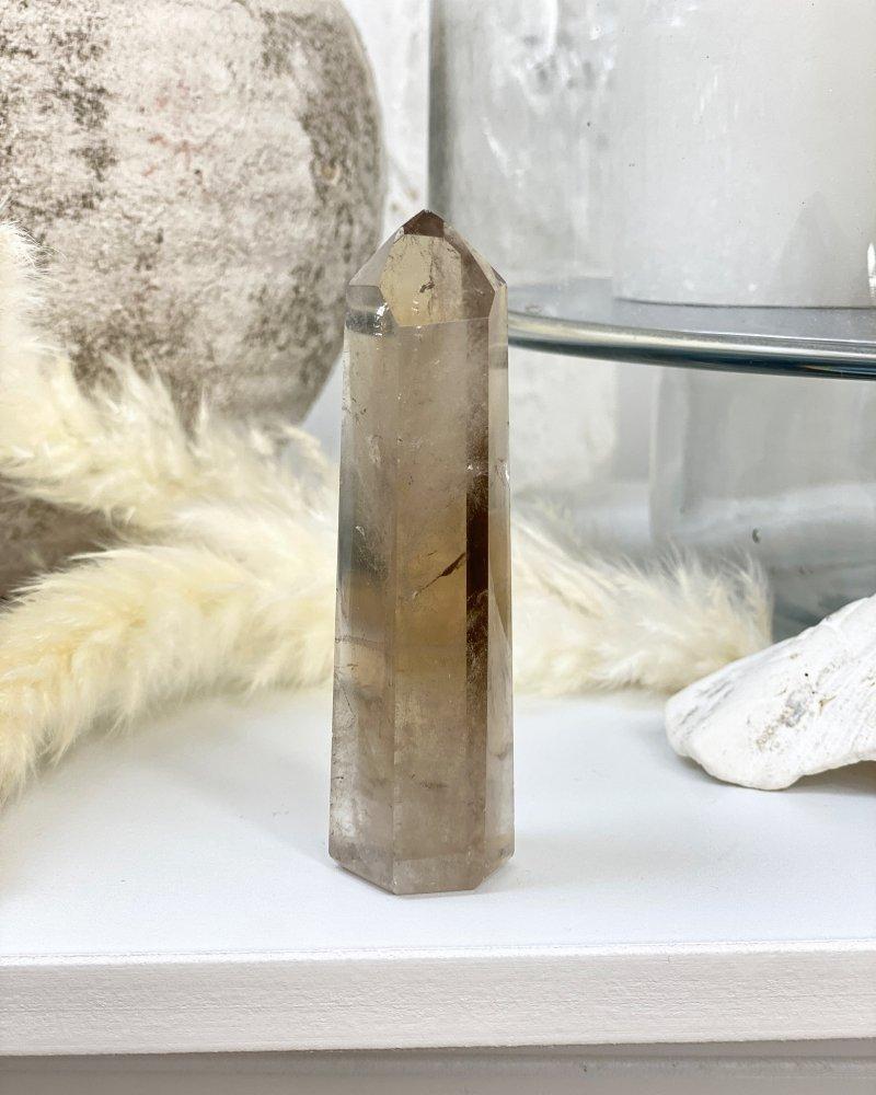 Polodrahokam záhněda krystal Brazílie 147g
