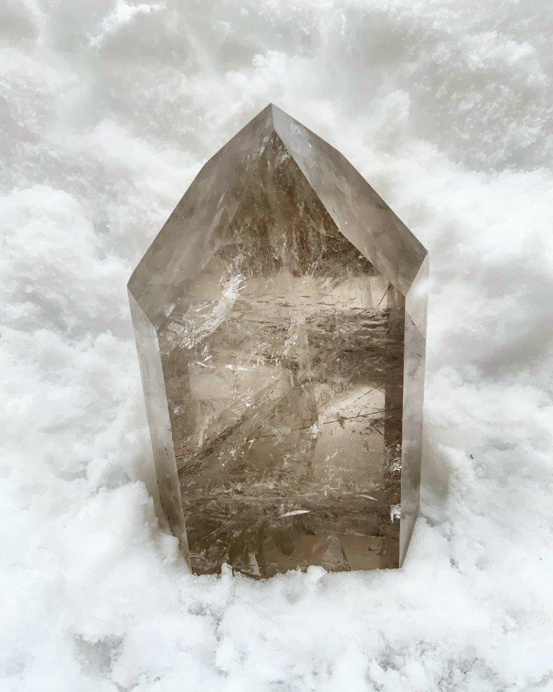 Luxusní krystal záhněda a sagenit Brazílie 3kg