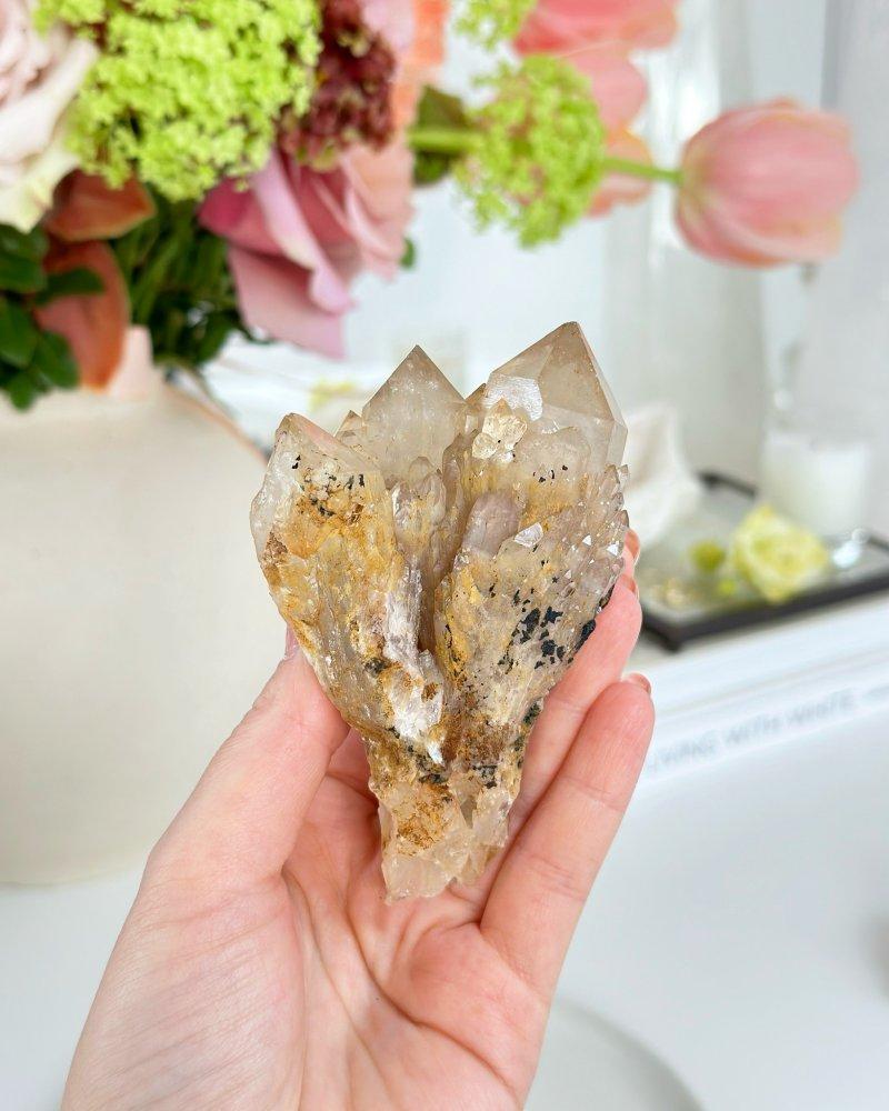 Citrínový krystal surový Kongo 213g AAA kvalita