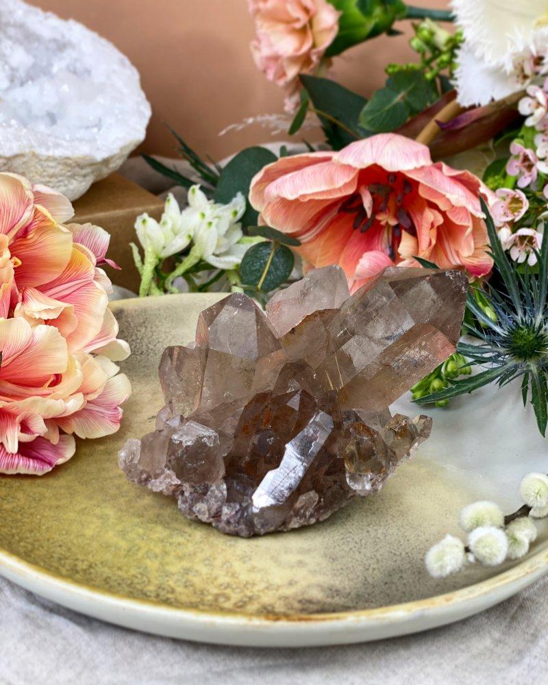 Luxusní drúza záhnědy a sagenitu Brazílie 296g