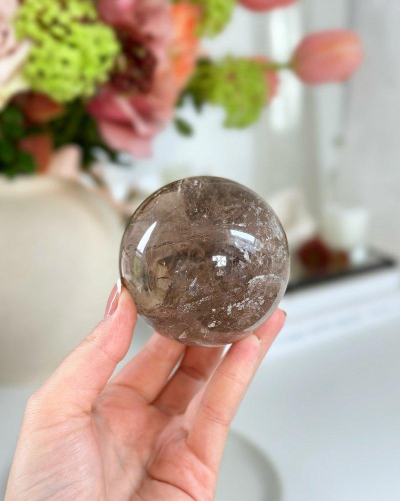 Křišťálová koule Brazílie 6,5cm A kvalita 404g