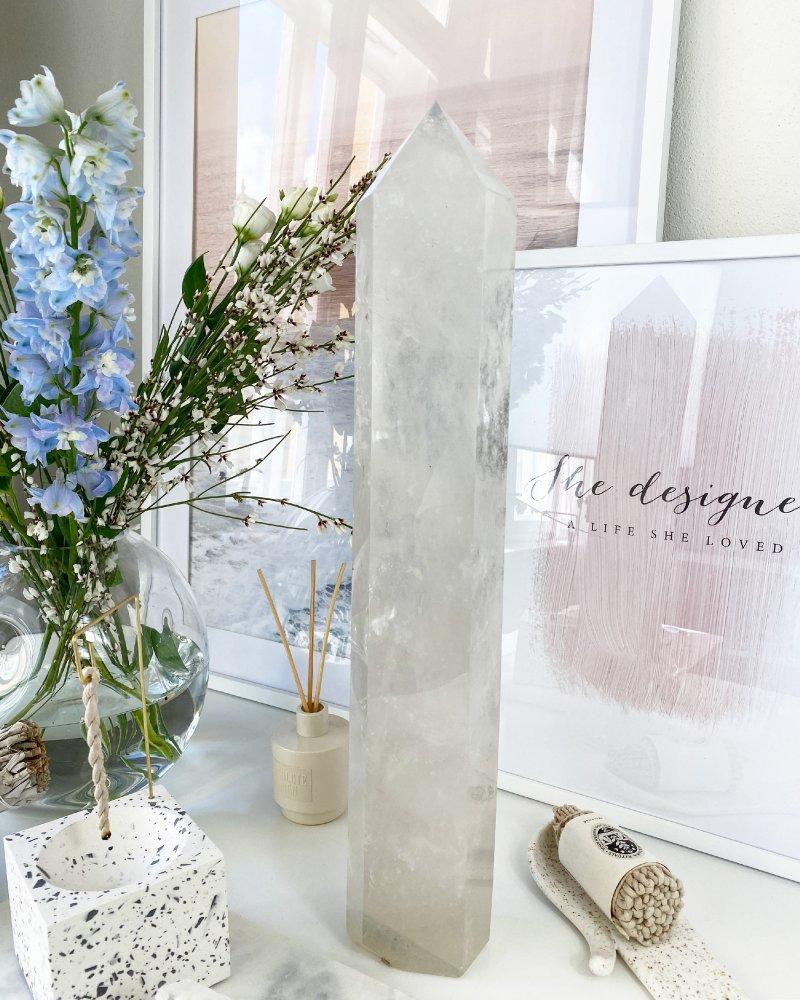 Luxusní krystal broušená špice 48cm Madagaskar TOP!
