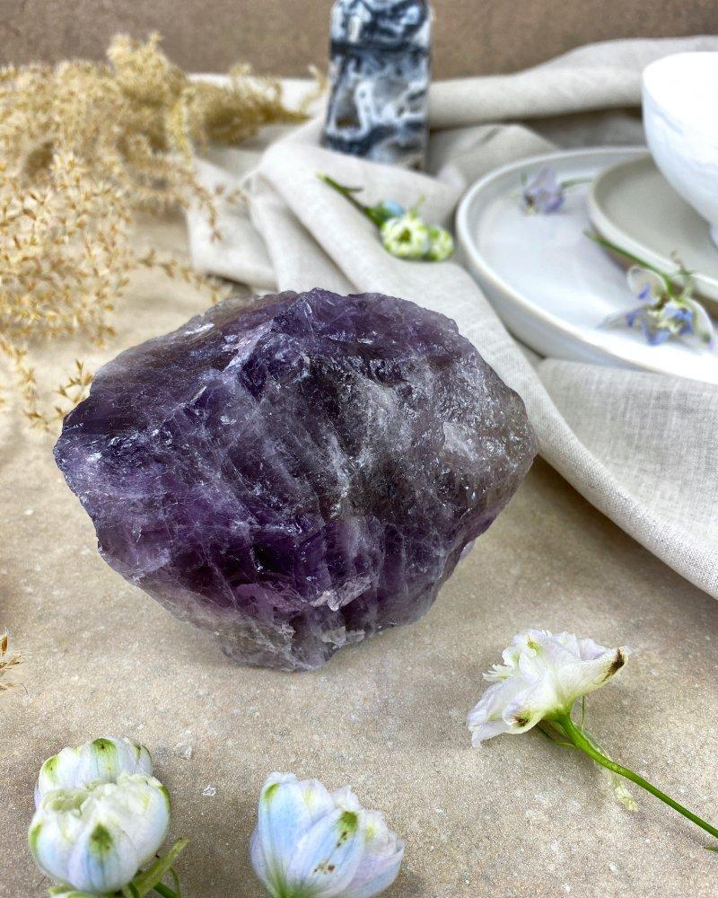 Ametyst surový kámen Bolívie 383g TOP