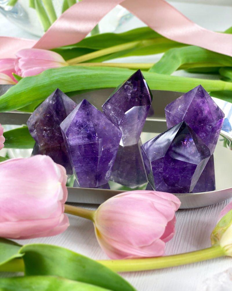 Ametystové krystaly mini broušené Brazílie