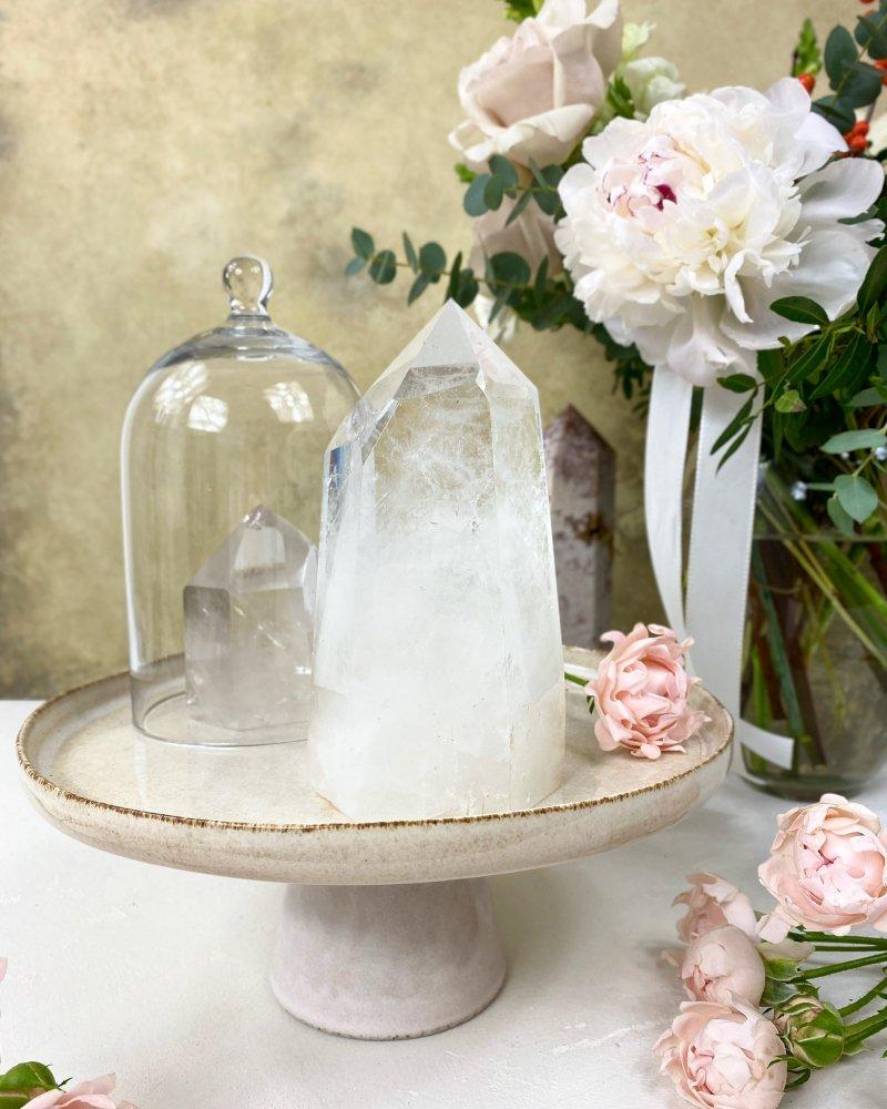 Luxusní křišťálová špice krystal broušený Brazílie 14cm 753g AAA