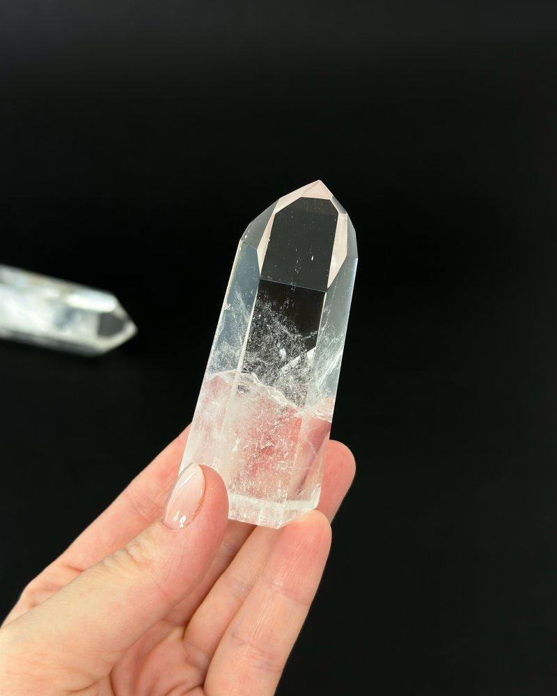 Luxusní křišťálová špice krystal Brazílie 14cm 409g AAA