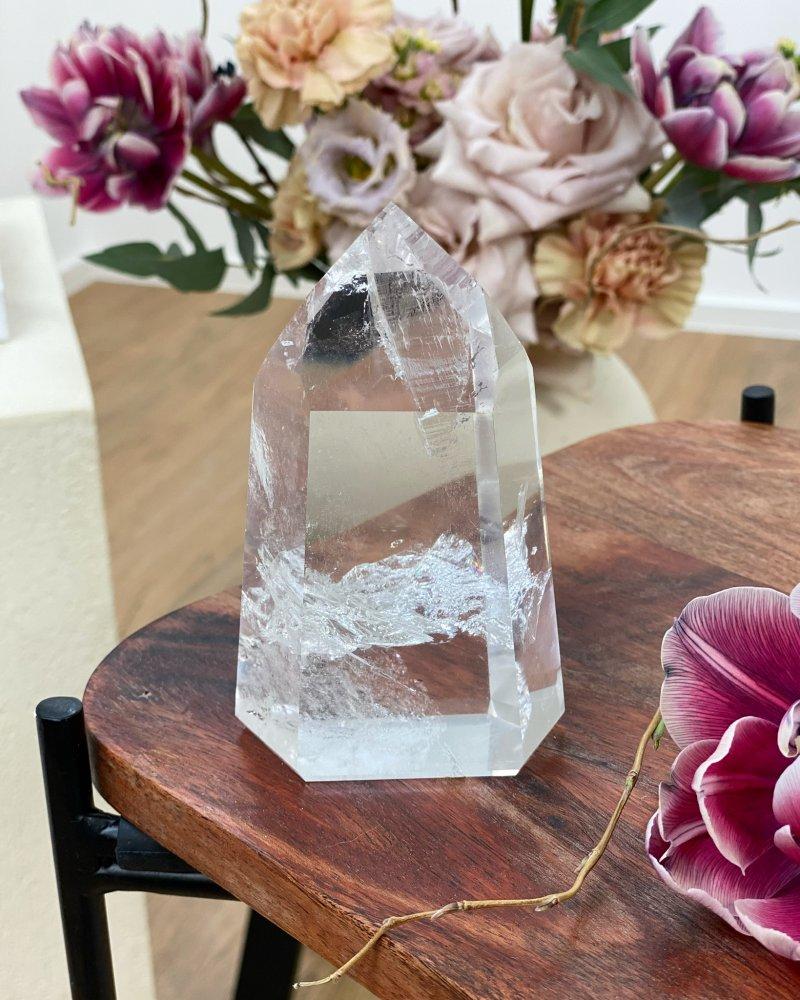 Luxusní křišťálová špice krystal Brazílie 9cm 557g AAA