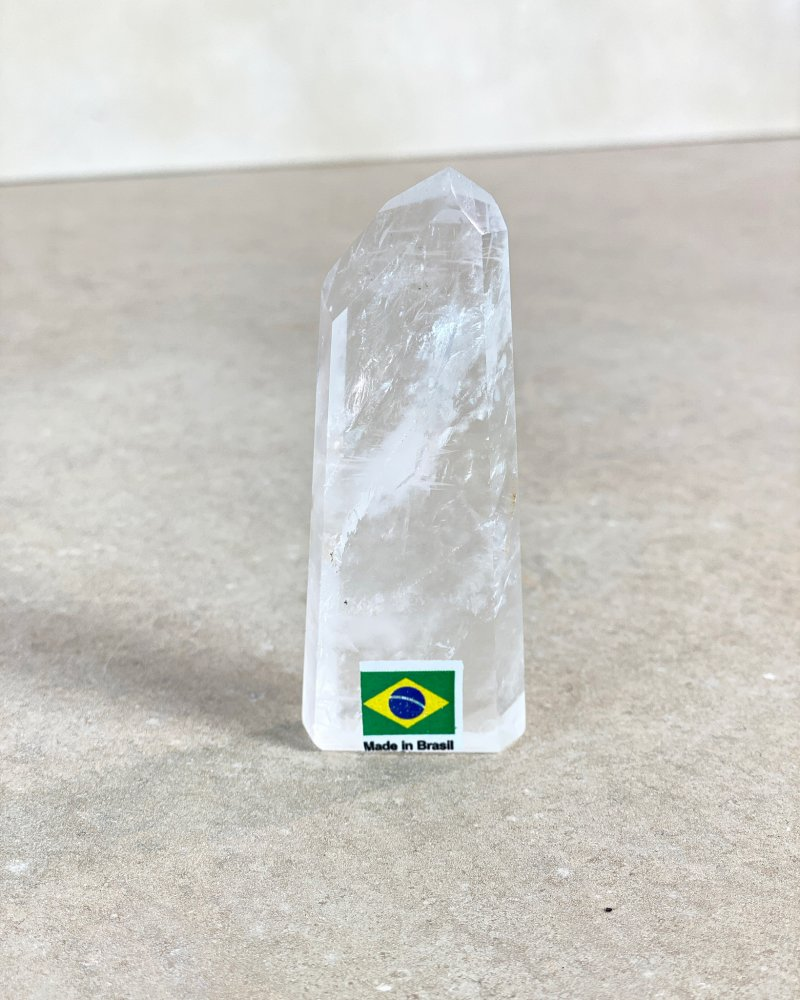 Křišťálový krystal broušený špice na prstýnek 57g