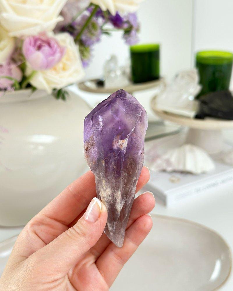 Ametyst vřeteno krystal Brazílie AAA kvalita 1kg