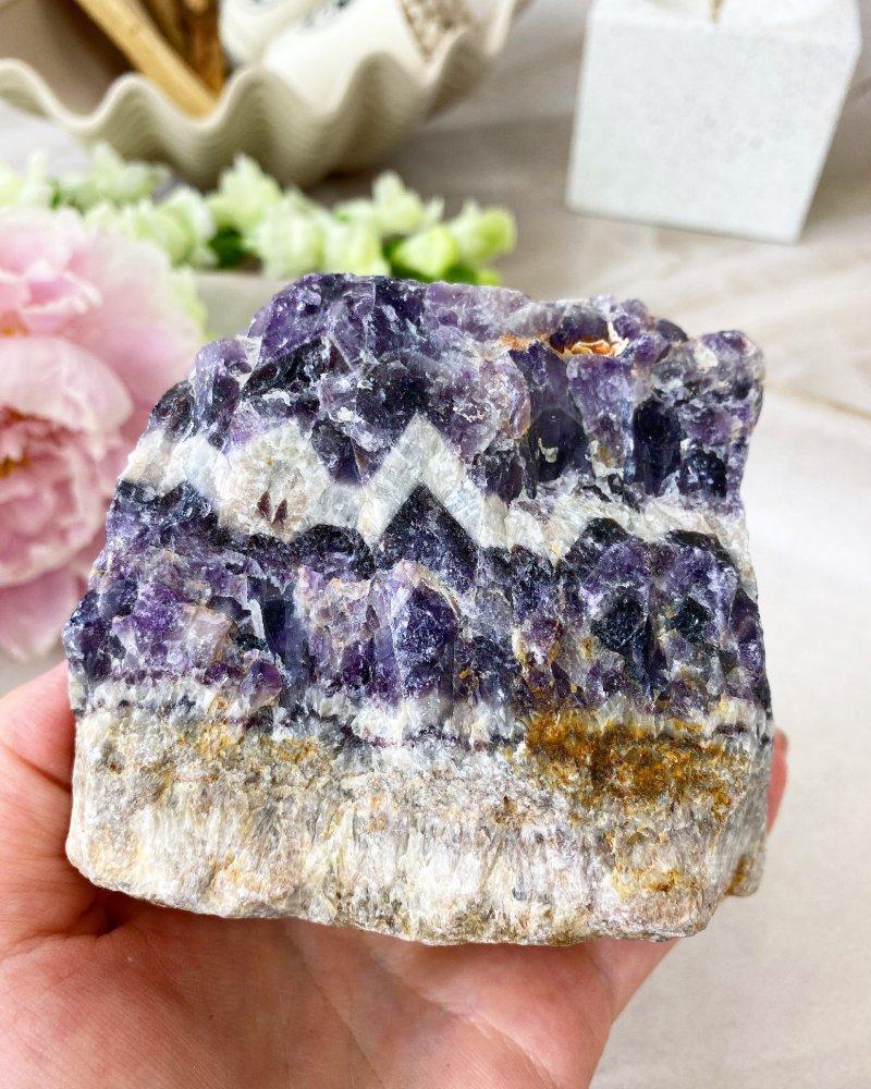 Ametystový surový kámen žílovina Zambie 593g
