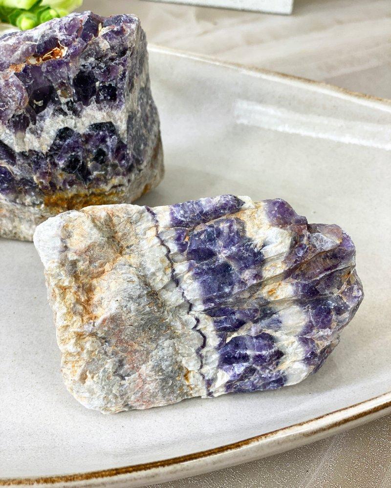 Ametystový surový kámen žílovina Zambie 310g