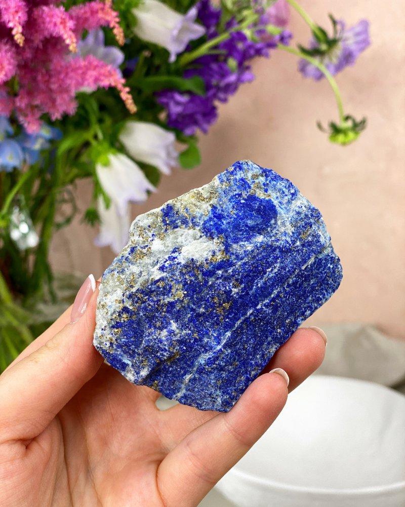 Polodrahokam lapis lazuli s pyritem surový 178g