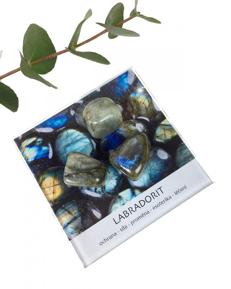 Labradorit leštěný minerál dekorační set