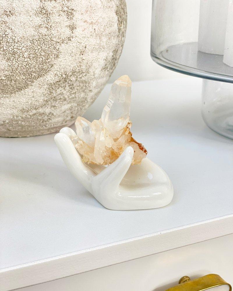 Křišťálový krystal surový špice 520g