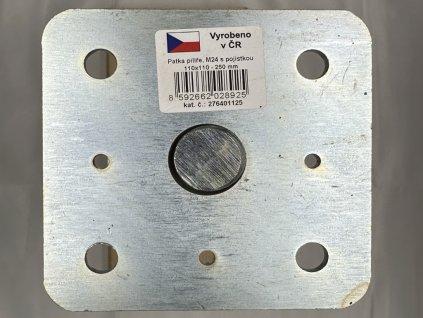 2020 05 02 19 54 24 patka pilíře s pojistkou galvanický zinek, 110x110 M24x250, galvanický zinek