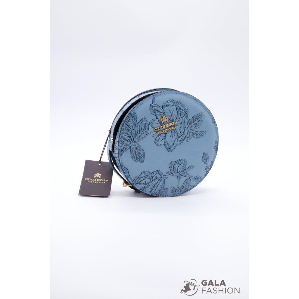 Cuoieria Fiorentina kabelka MIMI modrá B.1849