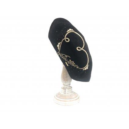 módní baret Arbuzja černý