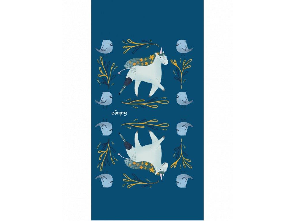 Nákrčník zateplený s ilustracemi od Natsleepwalker Jednorožec modrá