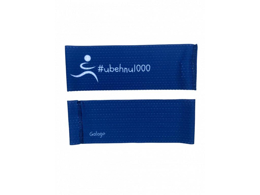 Perforovaná funkční čelenka - #ubehnu1000 modrá