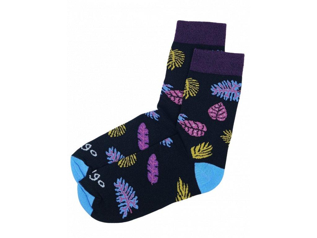 Bavlněné ponožky Lístečky