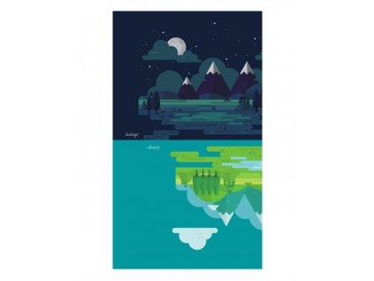 Nákrční Hory ve dne v noci  s obsahem stříbra