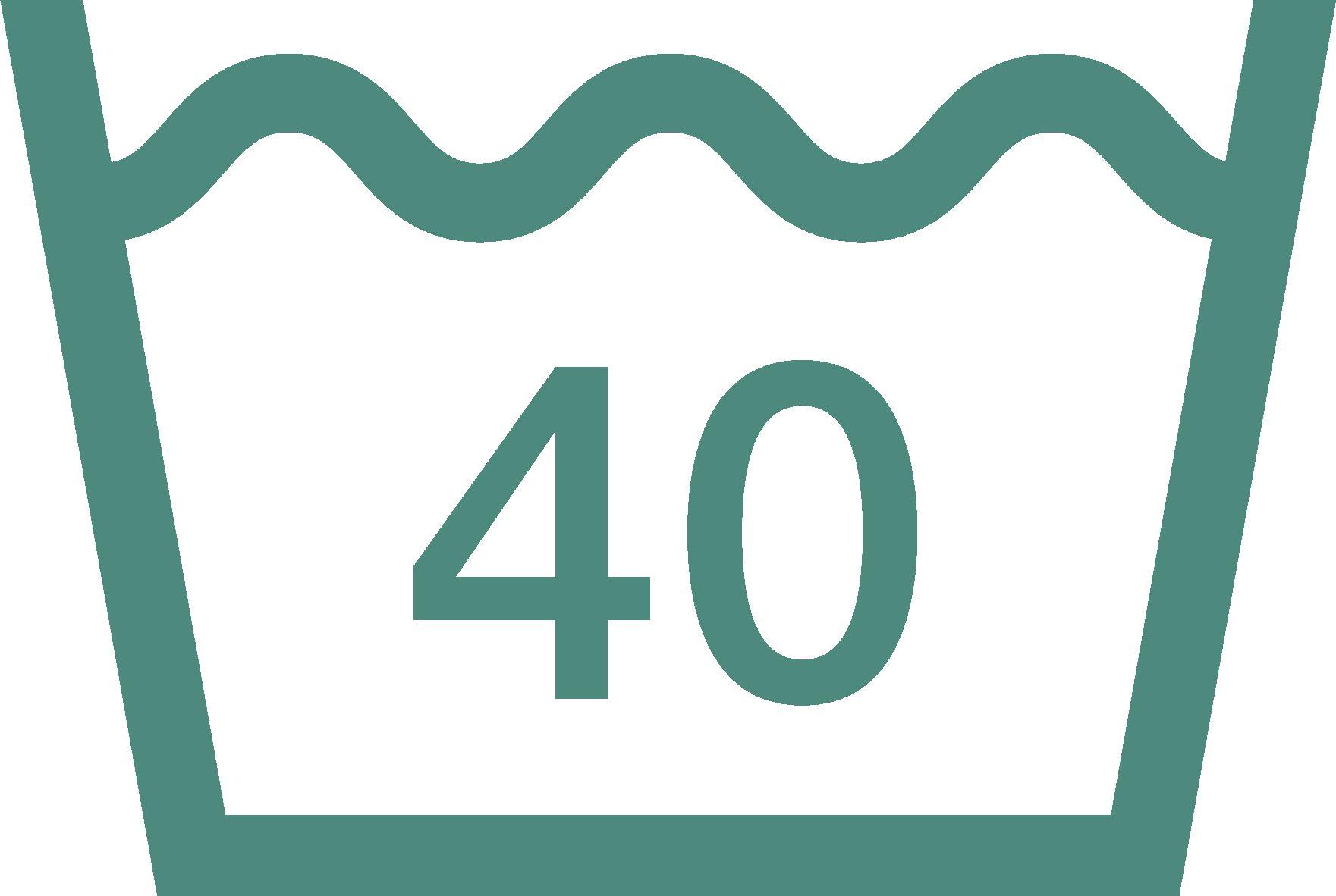maximální teplota praní 40 °C