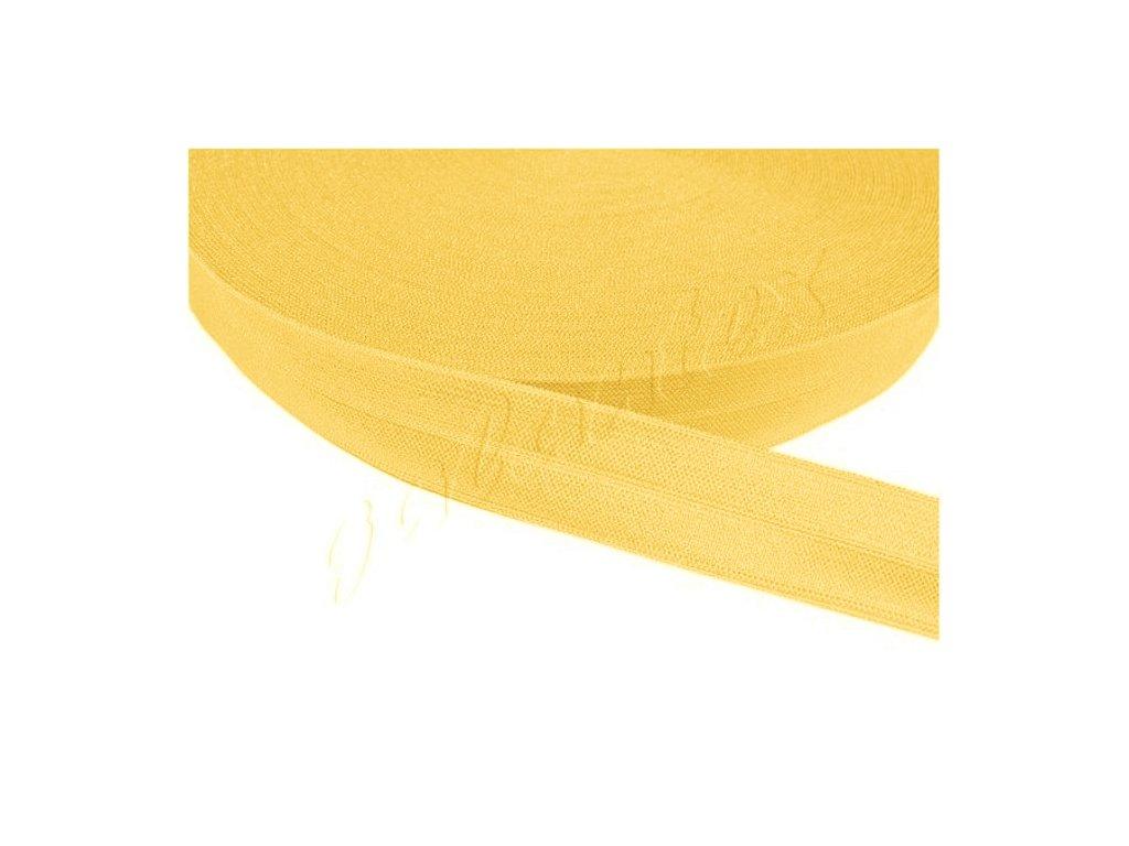 Pruženka lemovací šíře 20 mm - žlutá tmavá