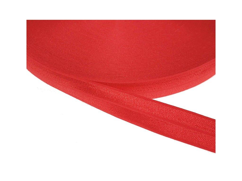 Pruženka lemovací šíře 20 mm - červená