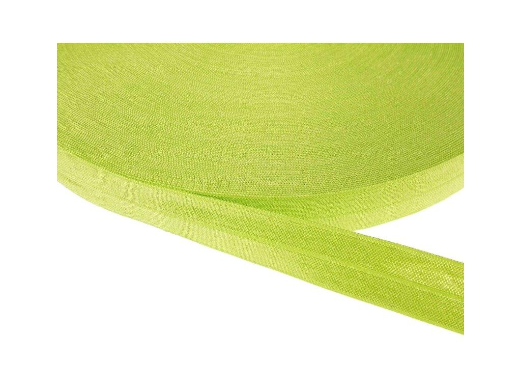 Pruženka lemovací šíře 20 mm - zelená lime